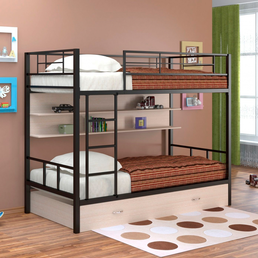 Железная кровать двухъярусная